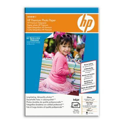 Расходный материал HP Premium Glossy Photo Paper 240 g/m-10 x 15 cm plus tab/60 sht Q1992A