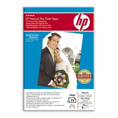 Расходный материал HP Premium Plus High-gloss Photo Paper 280 g/m-10 x 15 cm plus tab/25 sht Q8027A