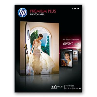 ��������� �������� HP Premium Plus High-gloss Photo Paper-20 sht/13 x 18 cm borderless Q6572A
