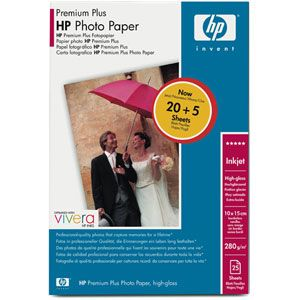 Расходный материал HP Premium Plus High-gloss Photo Paper-25 sht/10 x 15 cm borderless Q8028A