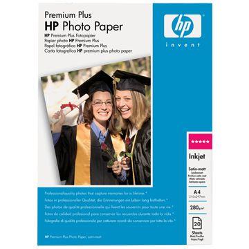 ��������� �������� HP Premium Plus Satin-matt Photo Paper 280 g/m-A4/210 x 297 mm/20 sht C6951A