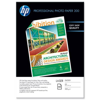 Расходный материал HP Professional Glossy Laser Photo Paper 200 gsm-100 sht/A4/210 x 297 mm CG966A
