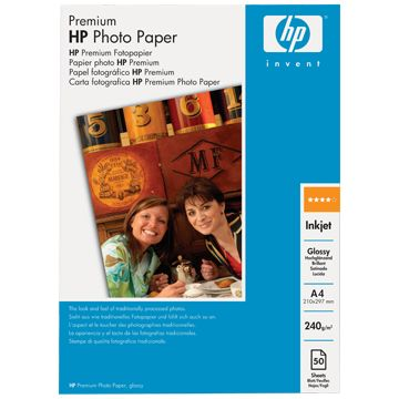 Расходный материал HP Premium Glossy Photo Paper 240 g/m?-A4/297 x 210 mm/50 sht C7040A