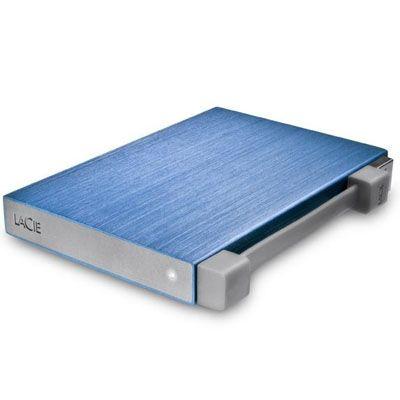 """������� ������� ���� LaCie Rikiki Go 500Gb 2.5"""" USB 2.0 Blue 301938"""