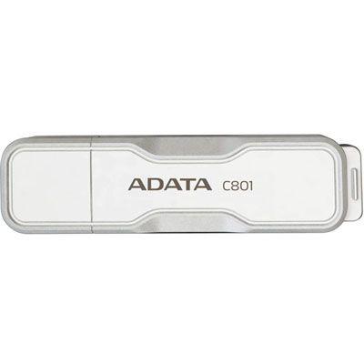 Флешка ADATA 8Gb C801 Pure White