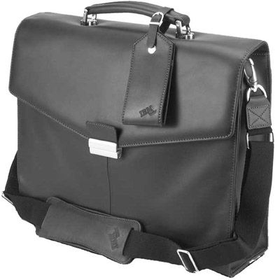 """����� Lenovo ThinkPad Leather Attache Carrying Case 15.4"""" 45J7916"""