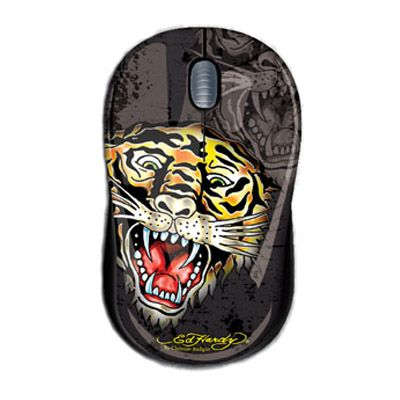 Мышь проводная Ed Hardy Tattoo Mouse Tiger Black MO09A04F