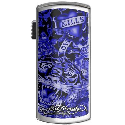 Флешка Ed Hardy 4Gb Basic Tattoo USB Key Allover Blue UB09204-4