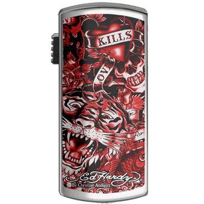 Флешка Ed Hardy 4Gb Basic Tattoo USB Key Allover Red UB09203-4