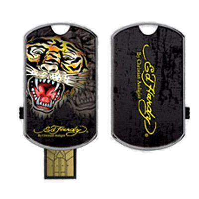 Флешка Ed Hardy 4Gb Pro Tattoo USB Key Tiger Black UB09B04F-4