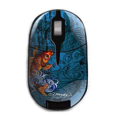 Мышь беспроводная Ed Hardy Pro Wireless Mouse Koi Fish Blue MO09B06F