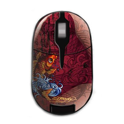 Мышь беспроводная Ed Hardy Pro Wireless Mouse Koi Fish Red MO09B05F