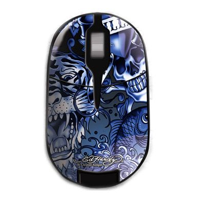 ���� ������������ Ed Hardy Pro Wireless Mouse Allover 2 Blue MO09B03A
