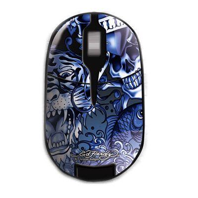 Мышь беспроводная Ed Hardy Pro Wireless Mouse Allover 2 Blue MO09B03A
