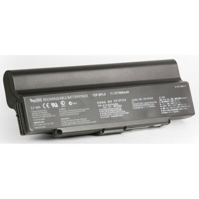 ����������� TopON ��� Sony VAIO VGN-CR, ar, nr, SZ6 Series 7800mAh TOP-BPL9-bp / VGP-BPL9
