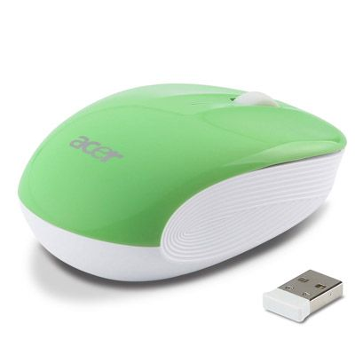 Мышь беспроводная Acer Wireless Optical Mouse Lime Green LC.MCE0A.010