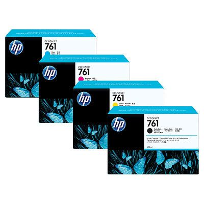 Расходный материал HP HP 761 775ml 3-pack - 3 ink cartridges Matte Black CR275A
