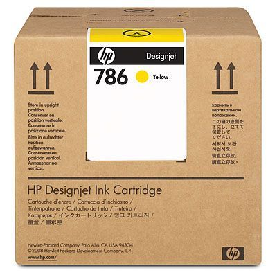 Расходный материал HP HP 786 3L Yellow Latex Designjet Ink Cartridge CC588A