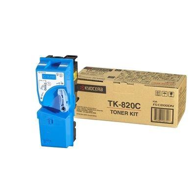 Тонер-картридж Kyocera FS-C8100DN Cyan /Зеленовато - голубой (TK-820C)