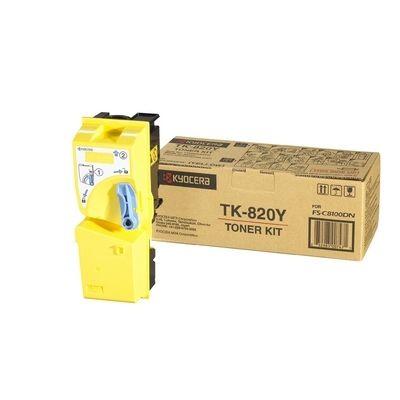 Тонер-картридж Kyocera FS-C8100DN Yellow/Желтый (TK-820Y)