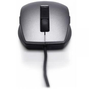 Мышь проводная Dell Silver-Black 6 Button Scroll USB Laser 570-10521