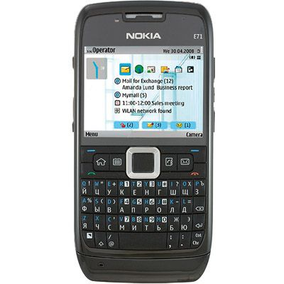 Смартфон, Nokia E71-1 Navi Black Steel