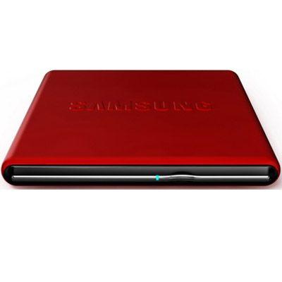 Samsung ������� ������ DVD-RW tray ext. USB2.0 Red Slim Super Multi SE-S084D/TSRS