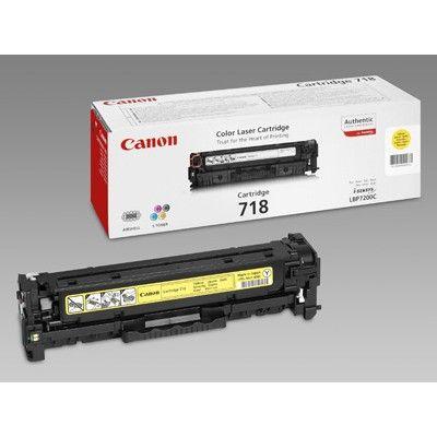 Картридж Canon 718 Yellow/Желтый (2659B002)