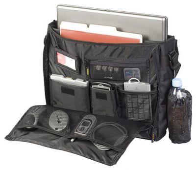 """����� Targus XL City Gear Messenger Notebook Case, Black & Silver 16""""-17.3"""" TCG200"""