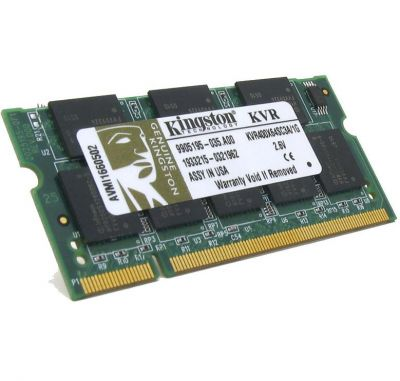 Оперативная память Kingston sodimm 1GB 400MHz ddr CL3 KVR400X64SC3A/1G