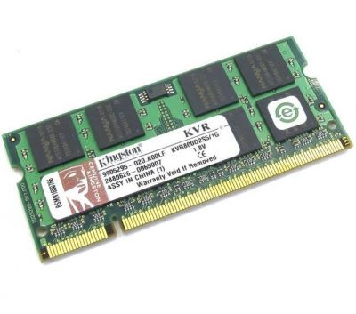 ����������� ������ Kingston sodimm 1GB 800MHz DDR2 CL5 KVR800D2S5/1G