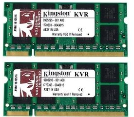 Оперативная память Kingston sodimm 4GB 800MHz DDR2 CL5 (Kit of 2) KVR800D2S5K2/4G