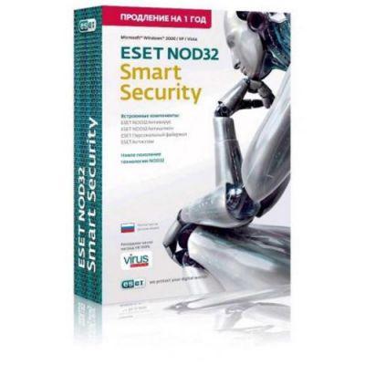 ESET NOD32 Smart Security - продление лицензии на 1 год на 1ПК (NOD32-ESS-RN-BOX-1-1)