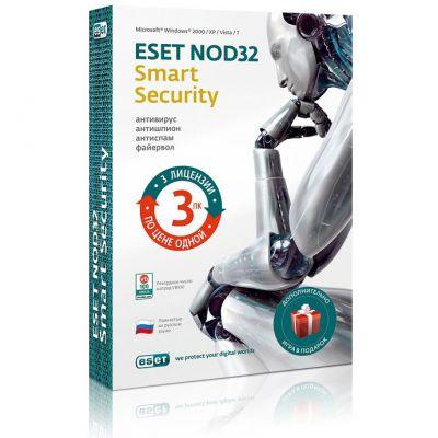 ��������� ESET NOD32 Smart Security + Bonus - �������� �� 1 ��� �� 3�� (NOD32-ESB-NS-BOX-1-1)