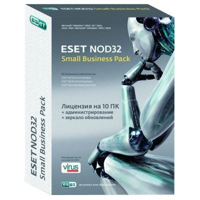 Антивирус ESET NOD32 small Business Pack newsale for 10 user (0+) NOD32-SBP-NS(BOX)-1-10