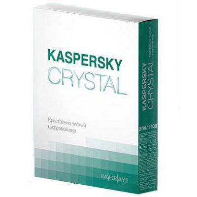 Антивирус Kaspersky crystal Russian Edition. 2-Desktop 1 year Base Box KL1901RBBFS