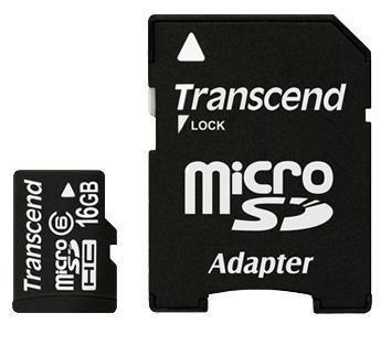 Карта памяти Transcend 16GB microSDHC class6 TS16GUSDHC6