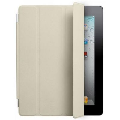 Чехол Apple для iPad2 Smart Cover Leather Cream MC952