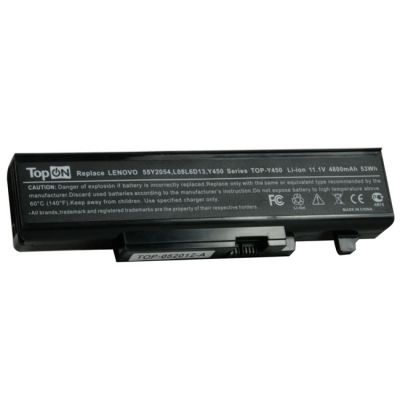 Аккумулятор TopON для Lenovo IdeaPad Y450A Y450G Y550A Y550P Series 4800 mAh TOP-Y450-bp