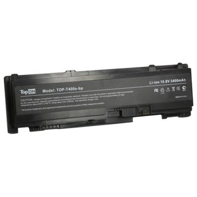 Аккумулятор TopON для Lenovo ThinkPad T400s T410s Series 3400 mAh TOP-T400s-bp
