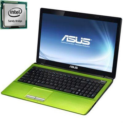 Ноутбук ASUS K53SJ i5-2410M Windows 7 (Green) 90N4BLD84W172BVD13AY