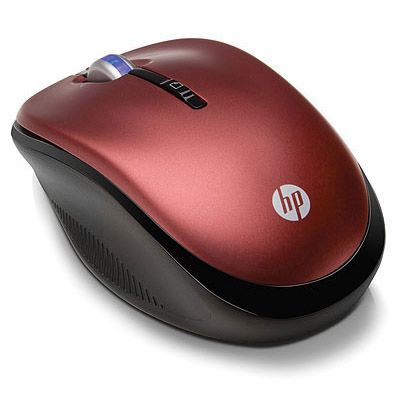 Мышь беспроводная HP 2.4GHz Wireless Optical Mouse Sonoma Red XB386AA