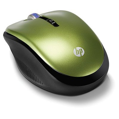���� ������������ HP 2.4GHz Wireless Optical Mouse Green Leaf XP359AA