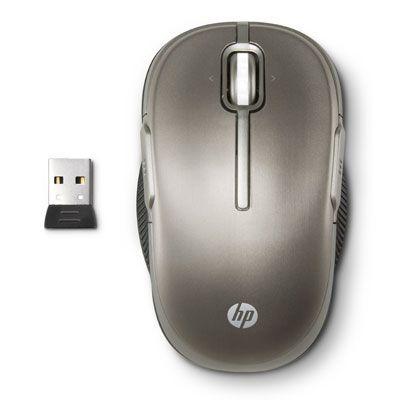 Мышь беспроводная HP 2.4GHz Wireless Laser Mouse Metal Steel LX729AA