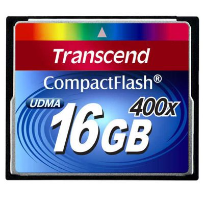 Карта памяти Transcend 16GB Compact Flash 400x TS16GCF400