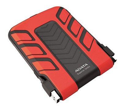 """Внешний жесткий диск ADATA 2.5"""" 750Gb. Красный ASH93-750GU-CRD"""