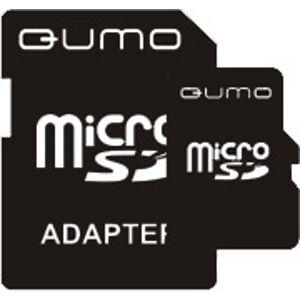 Флешка QUMO 8GB microSDHC class4 с адаптером sd QM8GMICSDHC4