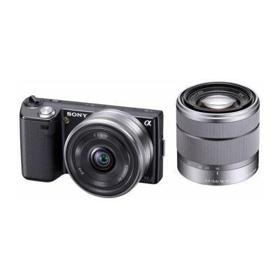 ���������� ����������� Sony Alpha NEX-5D Kit 16 mm + 18-55 mm Black (�� Sony)