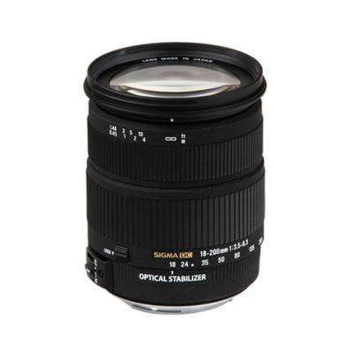 Объектив для фотоаппарата Sigma для Nikon AF 18-200 mm F/3.5-6.3 DC os Nikon F (ГТ Sigma)