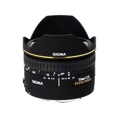 Объектив для фотоаппарата Sigma для Canon AF 15 mm f/2.8 ex dg diagonal fisheye